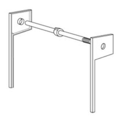 Omega National Products 16 inch Spring Tension Track System-Almond ST-3-16-AL