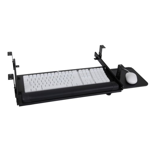 Sunway Inc Keyboard with Slide-Out Mouse Slide Drawer System 23 inch W-Black SLT408BK