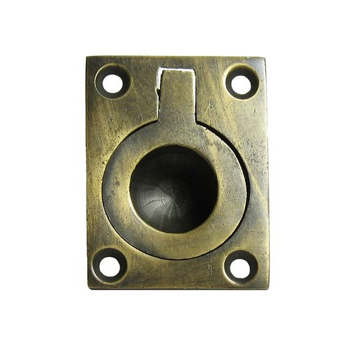 Gado Gado Bin Pulls 7/8 Inch Center to Center Unlacquered Antique Brass Recess Pull HBP4012