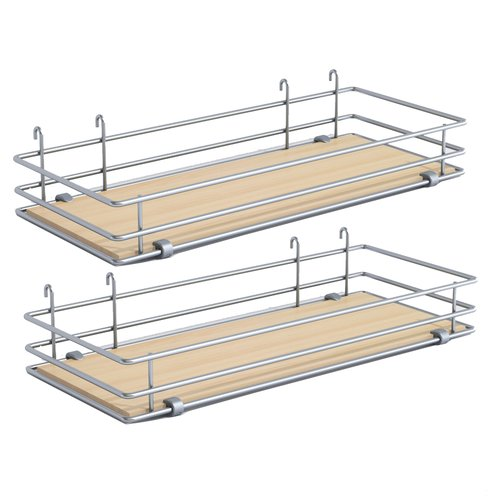 "DSA Two Basket Set 6.5"" Wide - Silver/Maple <small>(#9000 2589)</small>"