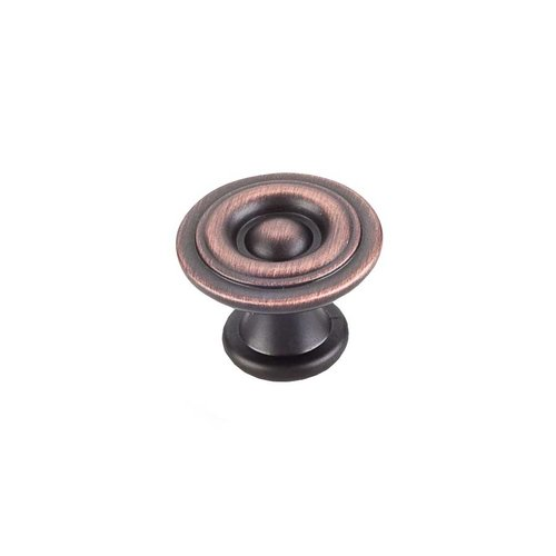 Elements by Hardware Resources Syracuse 1-3/16 Inch Diameter Brushed Oil Rubbed Bronze Cabinet Knob 575DBAC