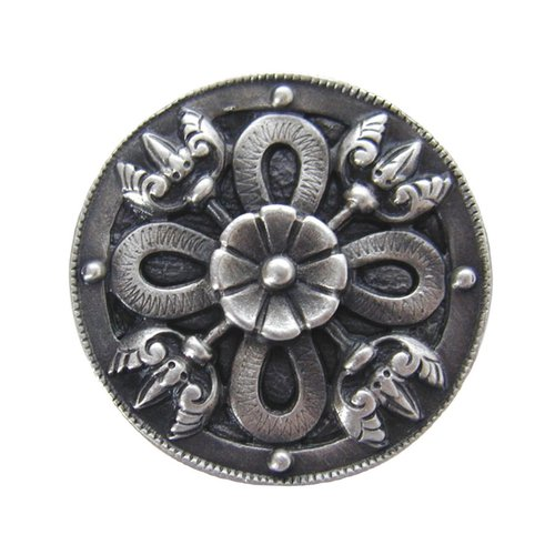 Notting Hill Jewel 1-1/8 Inch Diameter Antique Pewter Cabinet Knob NHK-103-AP