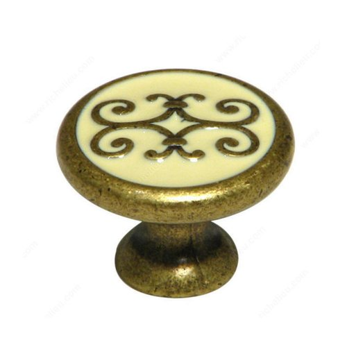 Art Deco 1-3/16 Inch Diameter Florence Cabinet Knob <small>(#3413030209)</small>