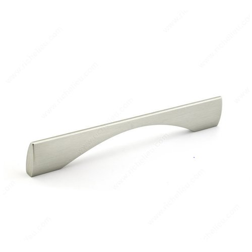 Richelieu Cut Out 6-5/16 Inch Center to Center Brushed Nickel Cabinet Pull 5873200195