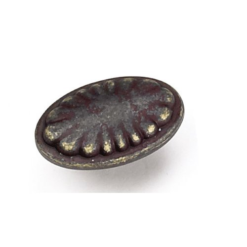 Windsor 1-5/8 Inch Diameter Weathered Antique Bronze Cabinet Knob <small>(#24378)</small>