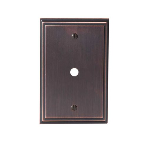 Amerock Mulholland One Cable Wall Plate Oil Rubbed Bronze BP36526ORB