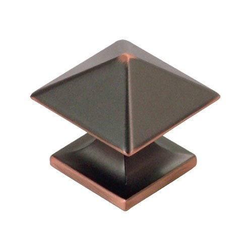 Hickory Hardware Studio 1-1/4 Inch Diameter Oil Rubbed Bronze Highlighted Cabinet Knob P3015-OBH