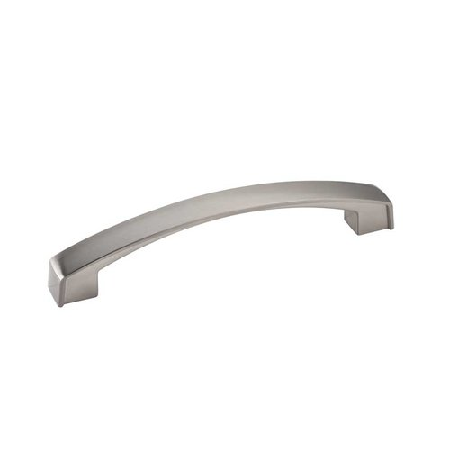 Merrick 5-1/16 Inch Center to Center Satin Nickel Cabinet Pull <small>(#549-128SN)</small>