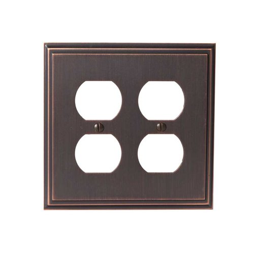 Amerock Mulholland Two Receptacle Wall Plate Oil Rubbed Bronze BP36523ORB
