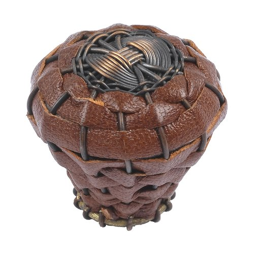 "Atlas Homewares Hamptons Knob 1-1/2"" Dia Aged Bronze 3173-O"