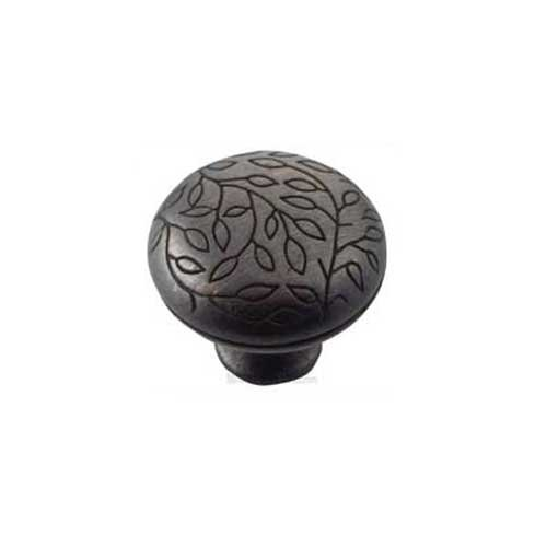 MNG Hardware Vine 1-1/2 Inch Diameter Oil Rubbed Bronze Cabinet Knob 15113
