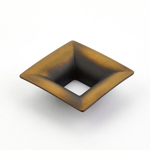 Finestrino 1-1/4 Inch Center to Center Burnished Bronze Cabinet Pull <small>(#440-BRBZ)</small>