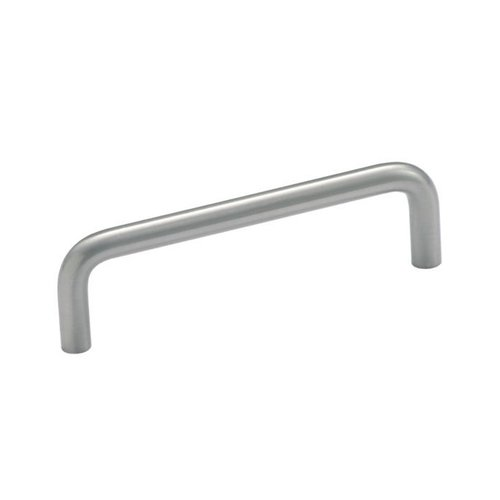Brass Wire Pull 4 Inch Center to Center Satin Nickel Cabinet Pull <small>(#BP76312G10)</small>