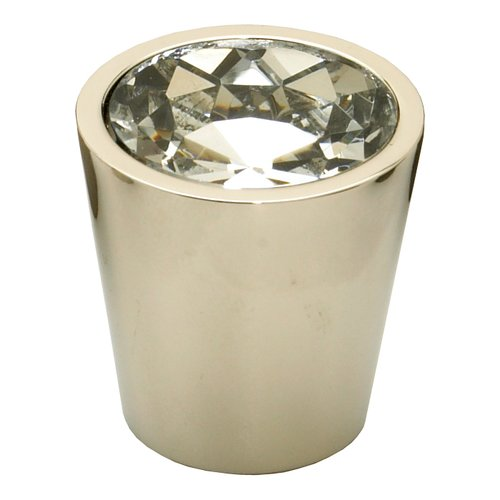 Fire 1-1/16 Inch Diameter Clear Crystal/Polished Nickel Cabinet Knob <small>(#72-C-PN)</small>