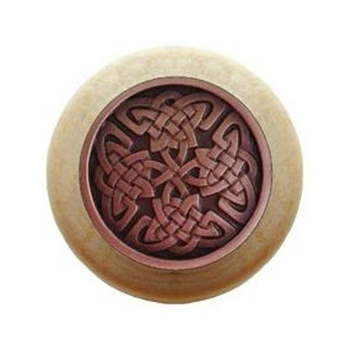 Jewel 1-1/2 Inch Diameter Antique Copper Cabinet Knob <small>(#NHW-757N-AC)</small>