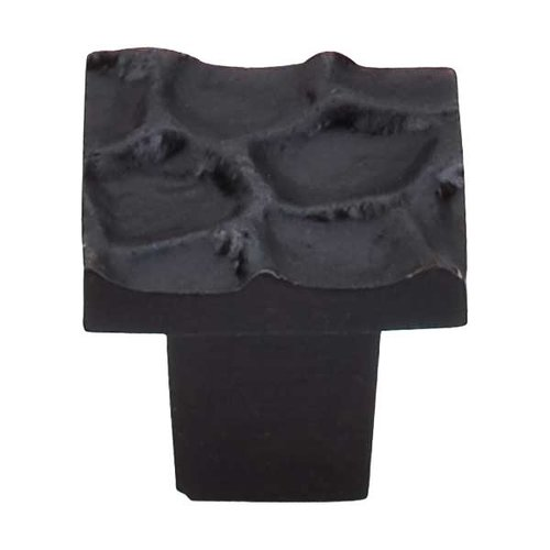 Top Knobs Cobblestone 1-1/8 Inch Diameter Coal Black Cabinet Knob TK300CB