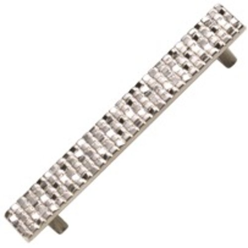Schaub and Company Italian Designs Mosaic 5-1/16 Inch Center to Center Satin Nickel Cabinet Pull 236-15