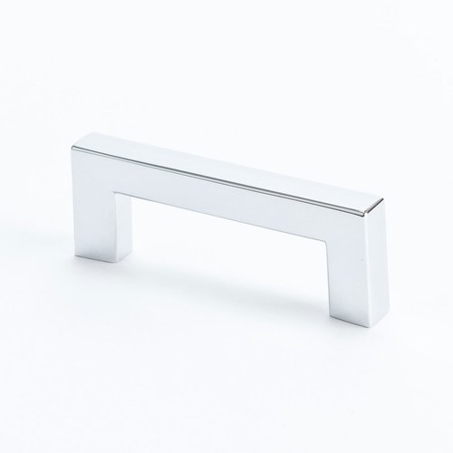 Square 2-1/2 Inch Center to Center Polished Chrome Cabinet Pull <small>(#9291-1026-C)</small>