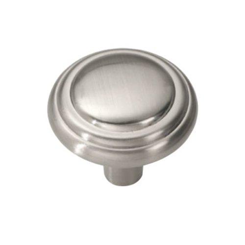 Hickory Hardware Bel Aire 1-1/8 Inch Diameter Satin Nickel Cabinet Knob P3464-SN