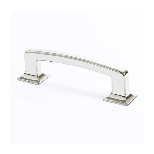 Berenson Designers Group 10 3-3/4 Inch Center to Center Polished Nickel Cabinet Pull 4140-1014-P