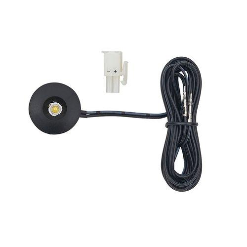 Tresco International 1W 12VDC Mini-Spot/Eye LED 3000K Black L-LED-1EB-WBL-1