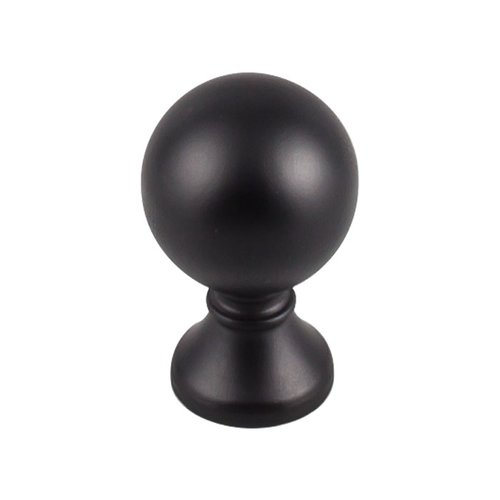 Top Knobs Serene 1 Inch Diameter Flat Black Cabinet Knob TK801BLK