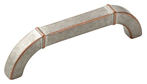 Amerock Vasari 3-3/4 Inch Center to Center Weathered Nickel Copper Cabinet Pull BP24004WNC