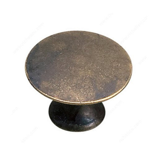 Richelieu Povera 1-3/16 Inch Diameter Oxidized Brass Cabinet Knob 2445930163