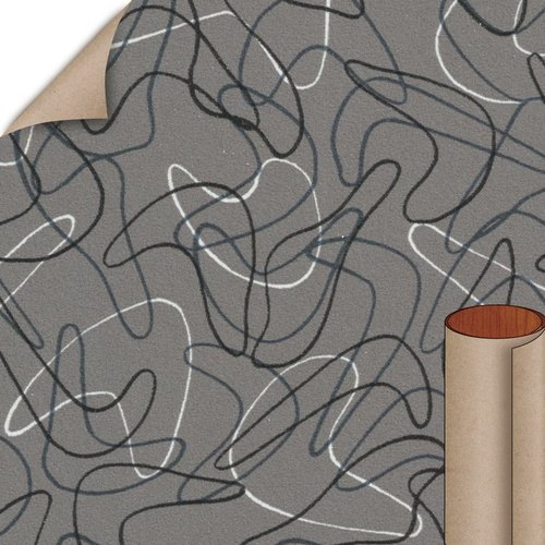 Charcoal Boomerang Matte Finish 4 ft. x 8 ft. Vertical Grade Laminate Sheet <small>(#6942-58-20-48X096)</small>