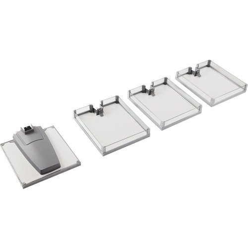 Kessebohmer Lavido 4 Tray Organizer Set 50er / 17-11/16 Inch - Chrome/Maple 549.64.215