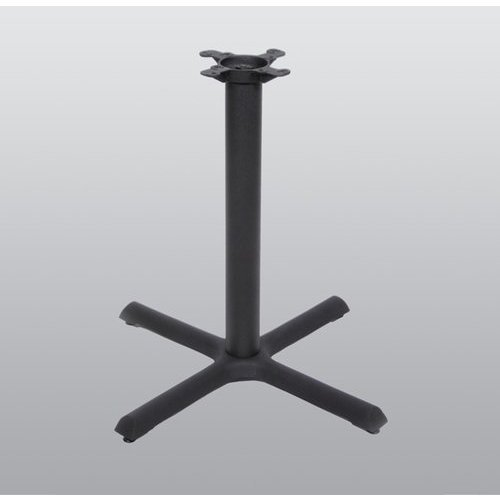 Peter Meier Table Base 30 inch x 30 inch End Style x 28 inch High-Black Matte Finish 2030-28-MT