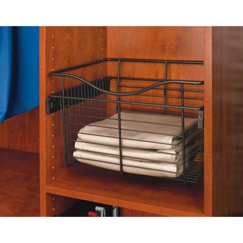 Slide Out Closet Shelves: Rev-A-Shelf 18 X 16 X 7 Inch Closet Pullout Basket