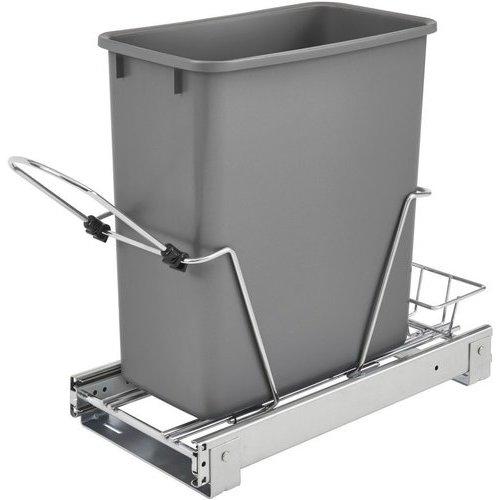 Rev A Shelf 20 Quart Bottom Mount Single Trash Pull Out