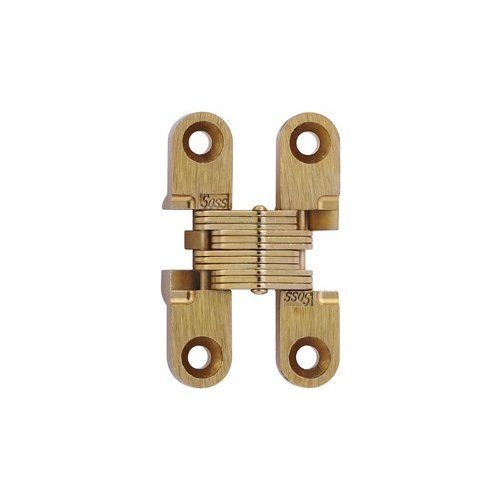 Soss 101 Invisible Hinge Satin Brass 101cus4