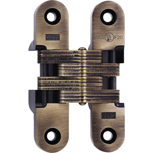 Soss 216 Fire Rated Invisible Hinge Antique Brass