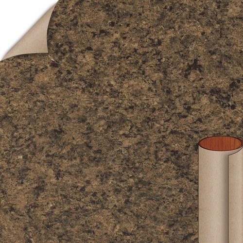 Wilsonart Milano Brown Quarry Finish 4 ft. x 8 ft. Peel/Stick Vertical Grade Laminate Sheet 4725K-52-735-48X096