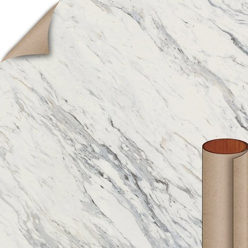 Wilsonart Calcutta Marble Textured Gloss Finish 4 ft. x 8 ft. Peel/Stick Vertical Grade Laminate Sheet 4925K-07-735-48X096