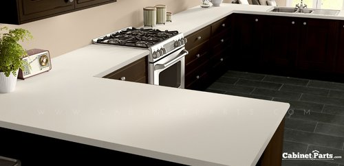Wilsonart Alabaster Matte Finish 4 ft. x 8 ft. Countertop Grade Laminate Sheet D431-60-350-48X096