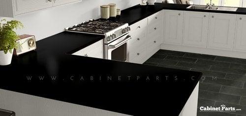 Wilsonart Black Matte Finish 4 ft. x 8 ft. Peel/Stick Vertical Grade Laminate Sheet 1595-60-735-48X096