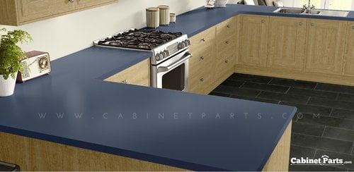Wilsonart Brittany Blue Matte Finish 4 ft. x 8 ft. Vertical Grade Laminate Sheet D321-60-335-48X096