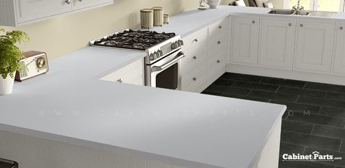 Wilsonart Designer white Matte Finish 4 ft. x 8 ft. Countertop Grade Laminate Sheet D354-60-350-48X096