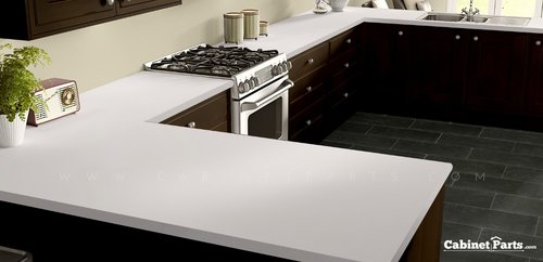Wilsonart Frosty White Matte Finish 4 ft. x 8 ft. Peel/Stick Vertical Grade Laminate Sheet 1573-60-735-48X096