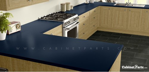 Wilsonart Indigo Matte Finish 4 ft. x 8 ft. Countertop Grade Laminate Sheet D379-60-350-48X096