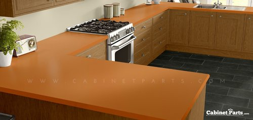 Wilsonart Orange Grove Matte Finish 4 ft. x 8 ft. Countertop Grade Laminate Sheet D501-60-350-48X096