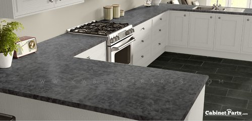 Wilsonart Pewter Brush Matte Finish 4 ft. x 8 ft. Countertop Grade Laminate Sheet 4779-60-350-48X096