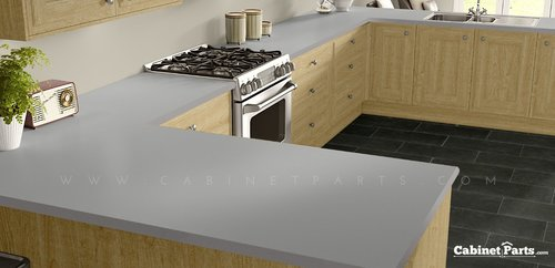 Wilsonart Platinum Matte Finish 4 ft. x 8 ft. Countertop Grade Laminate Sheet D315-60-350-48X096