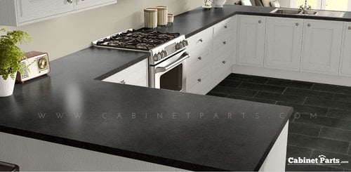 Wilsonart Salentina Nero HD Glaze Finish 4 ft. x 8 ft. Peel/Stick Countertop Grade Laminate Sheet 1864K-55-776-48X096