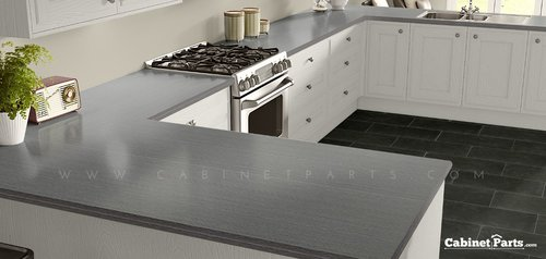 Wilsonart Satin Stainless Linearity Finish 4 ft. x 8 ft. Vertical Grade Laminate Sheet 4830-18-335-48X096