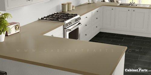 Wilsonart Soft Gold Mesh Fine Velvet Texture Finish 4 ft. x 8 ft. Peel/Stick Vertical Grade Laminate Sheet 4911-38-735-48X096