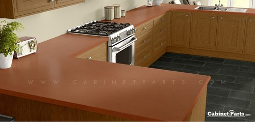 Wilsonart Tangerine Matte Finish 4 ft. x 8 ft. Vertical Grade Laminate Sheet 4915-60-335-48X096